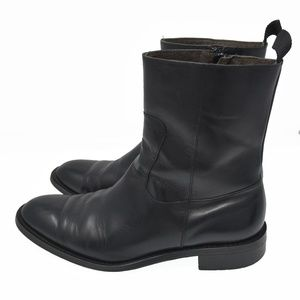 Banana Republic Sz 8M Black Leather Zip Up Boots
